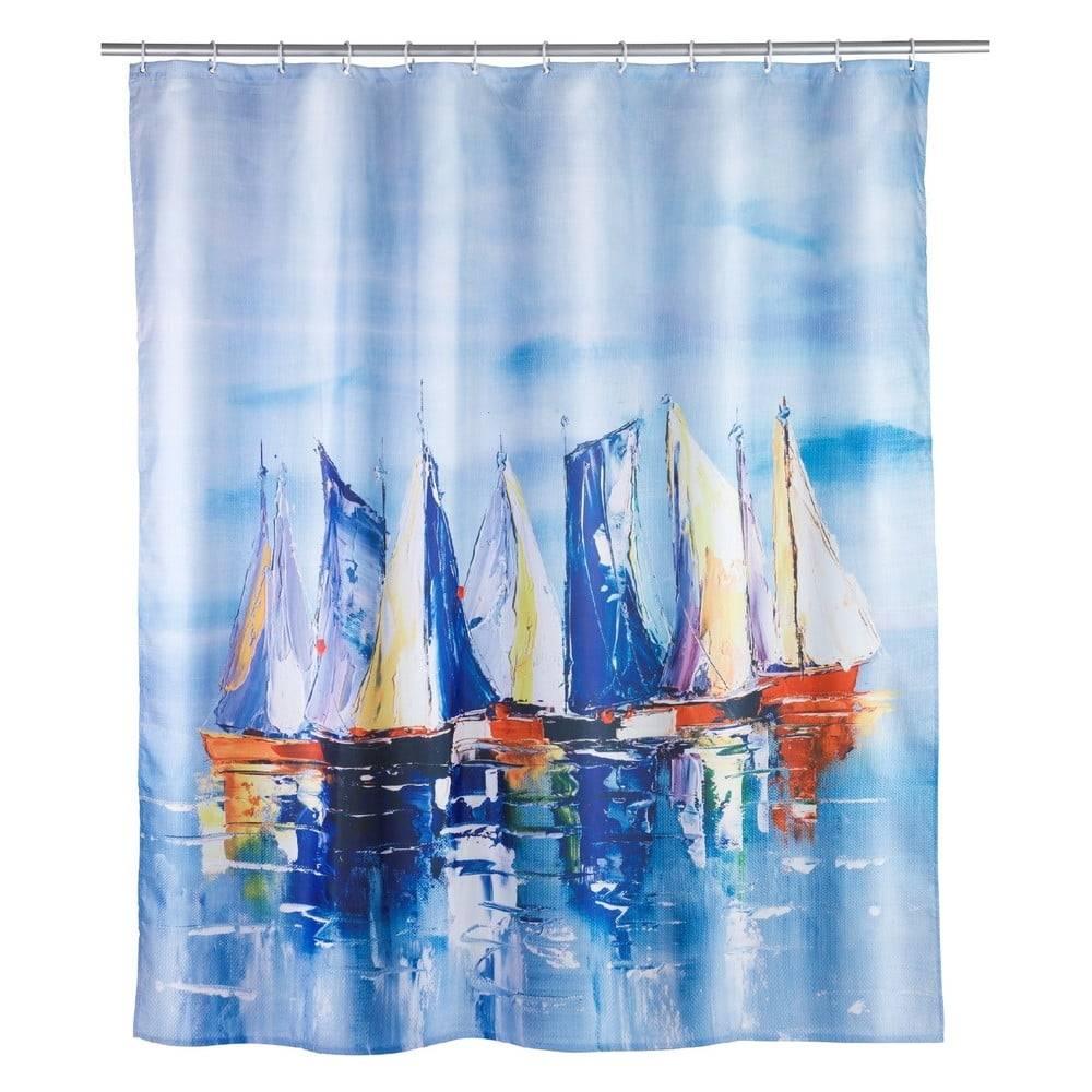 Wenko Sprchový záves Wenko Sailing, 180×200 cm