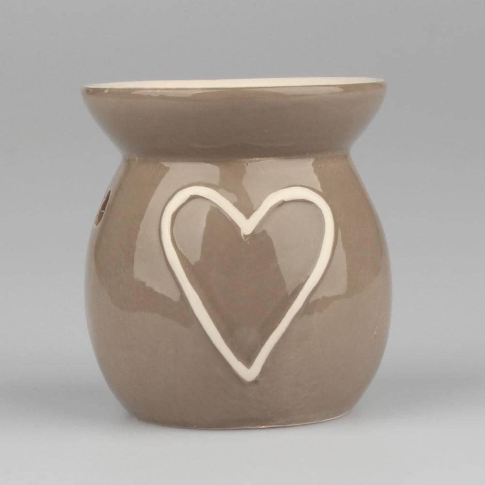 Dakls Keramická aromalampa Dakls Heart, výška 10 cm
