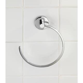 Kruhový držiak na uteráky bez nutnosti vŕtania Wenko Vacuum-Loc Capri, až 33g