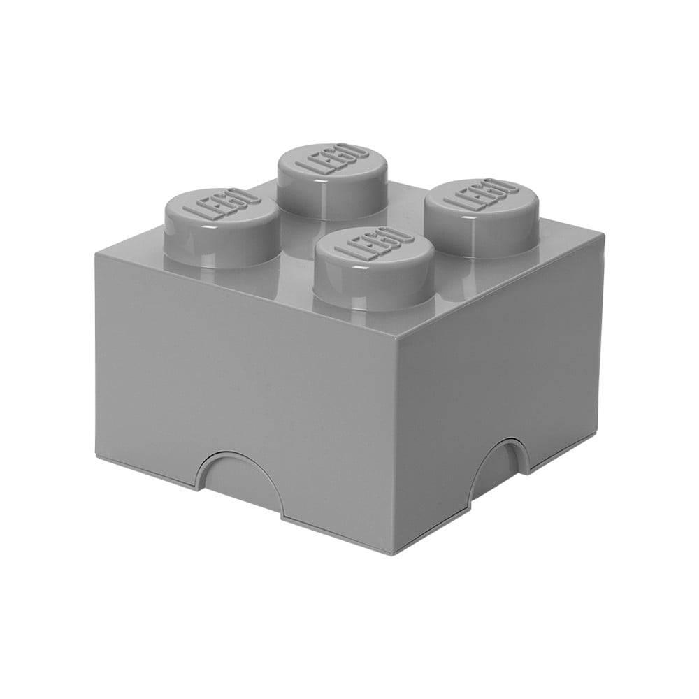 LEGO® Sivý úložný box štvorec LEGO®