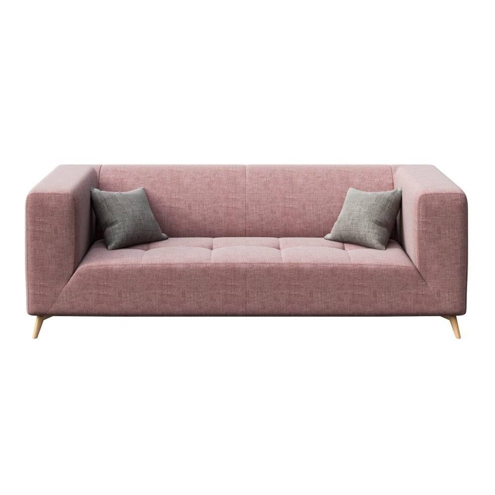 MESONICA Ružová pohovka MESONICA Toro, 217 cm