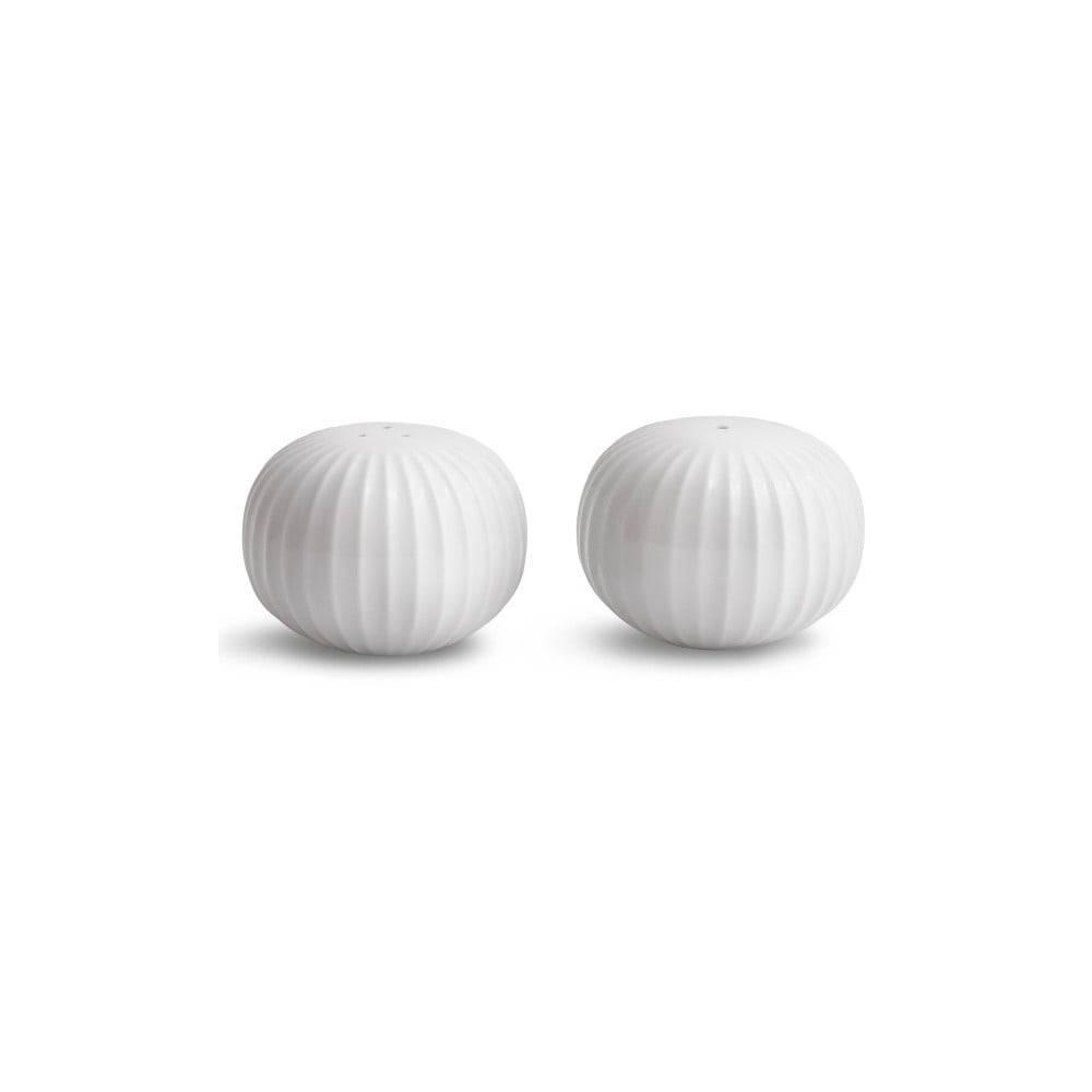 Kähler Design Set bielej soľničky a koreničky z porcelánu Kähler Design Hammershoi