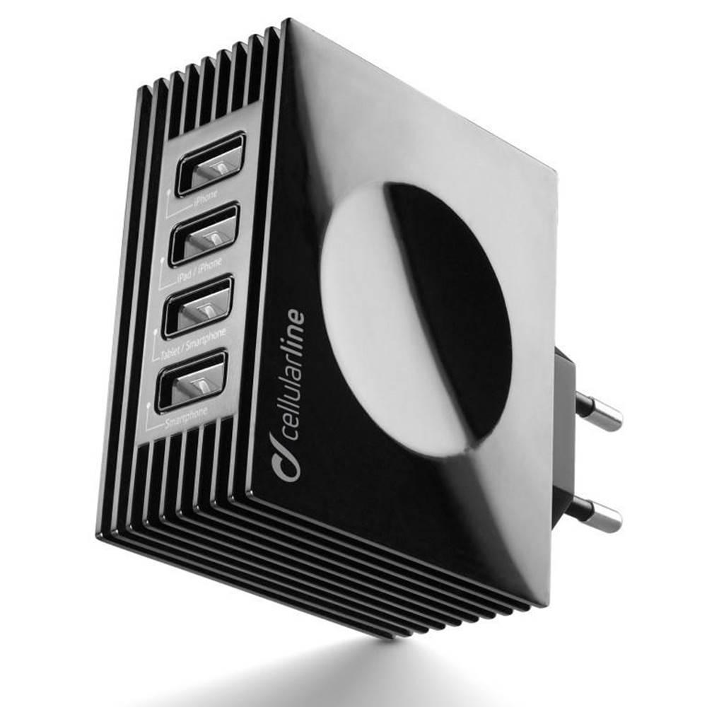 CellularLine Nabíjačka do siete CellularLine Quad Ultra 4 x USB, 21W/4.2 A