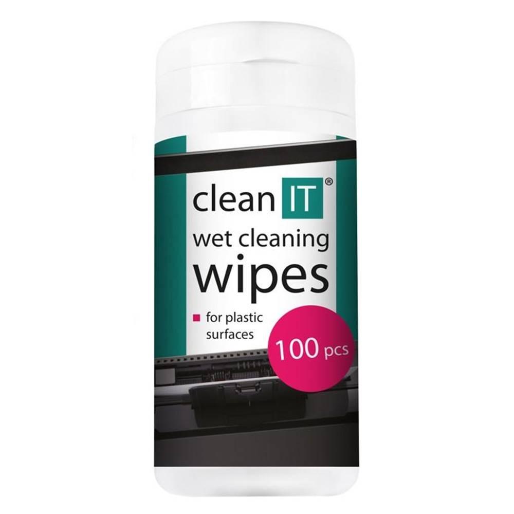 Clean IT Čistiace obrúsky Clean IT mokré na plasty, 100ks