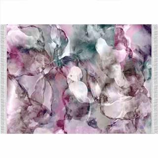Koberec ružová/zelená/krémová/vzor 180x270 DELILA