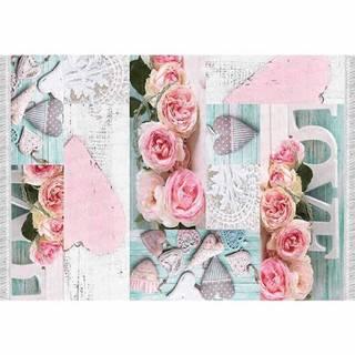 Koberec vzor ruže viacfarebný 160x230 SONIL TYP 2