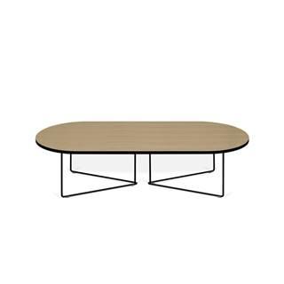 Konferenčný stolík s dubovou dyhou TemaHome