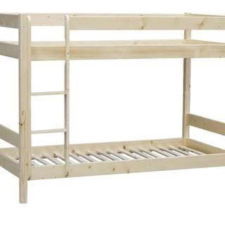 Poschodová posteľ MILOS smrek, 90x200 cm