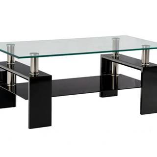 Konferenčný stolík TOLEDO čierna/sklo
