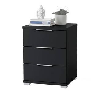 Nočný stolík KORON 3 čierna